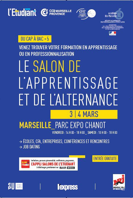 Participation de la mfr de puyloubier aux forums et salons for Salon de l apprentissage